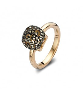 Anillo Mini Sweety con diamantes brown