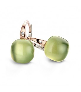 "Pendientes Mini Sweety ""Lemon Quartz"" y Aventurina Verde"