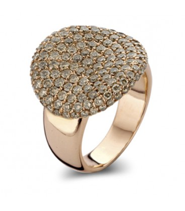 "Anillo ""Waves"" Diamante Brown"