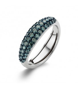 "Anillo ""Flow"" Blue Diamonds"